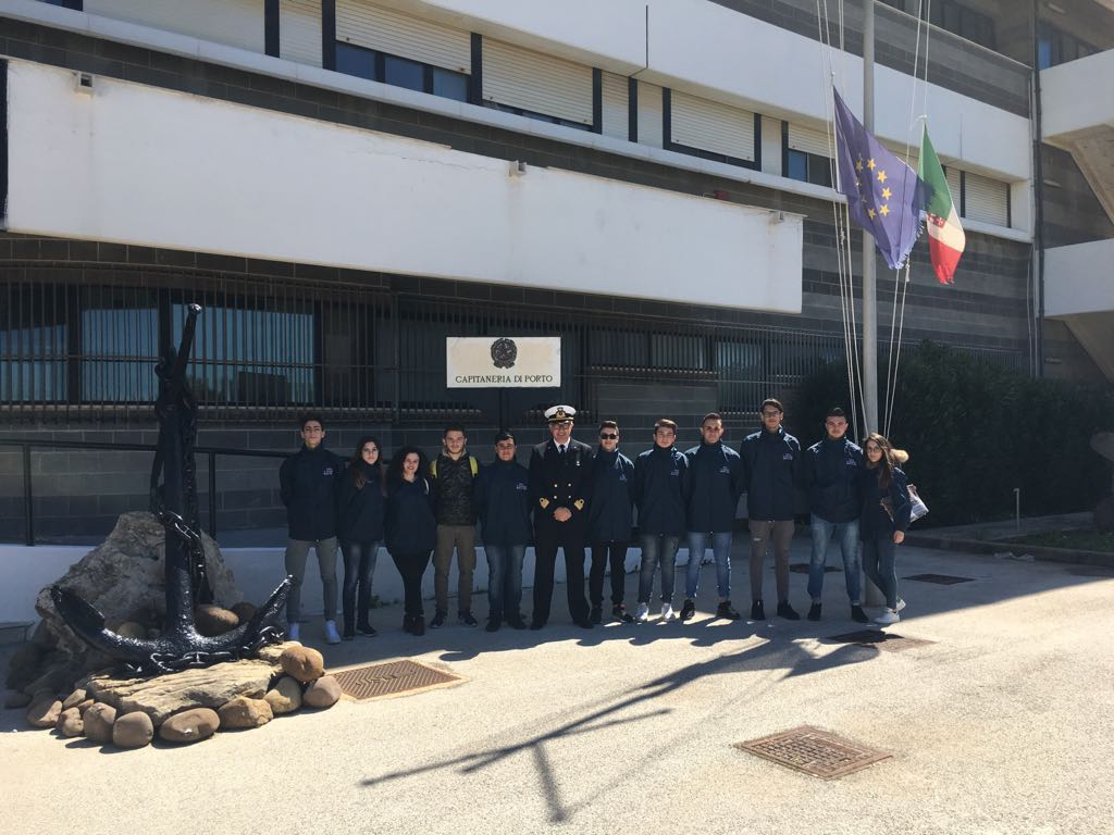studenti in alternanza in Capitaneria di Porto di Mazara del Vallo